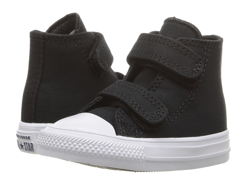 Converse Kids Chuck II Hi 2V (Infant/Toddler) (Black/White/Navy) Kid
