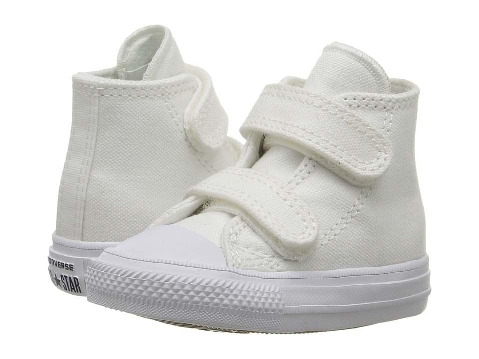 Converse Kids Chuck II Hi 2V (Infant/Toddler) (White/White/Navy) Kid