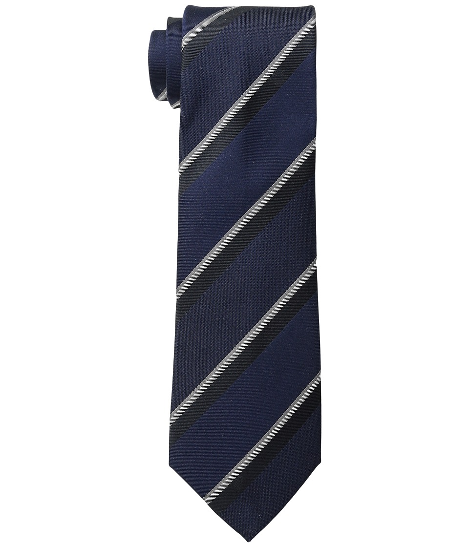 Kenneth Cole Reaction Step Stripe Midnight Ties