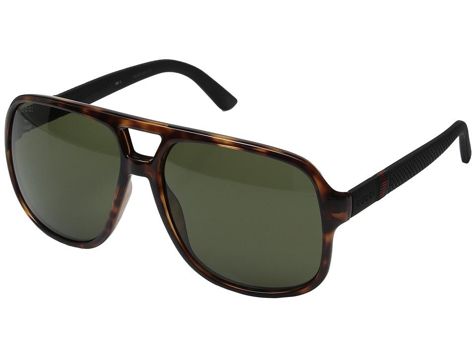 Gucci GG 1115S Havana Black Fashion Sunglasses