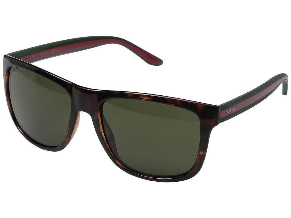Gucci GG 1118S Havana/Green/Red Fashion Sunglasses