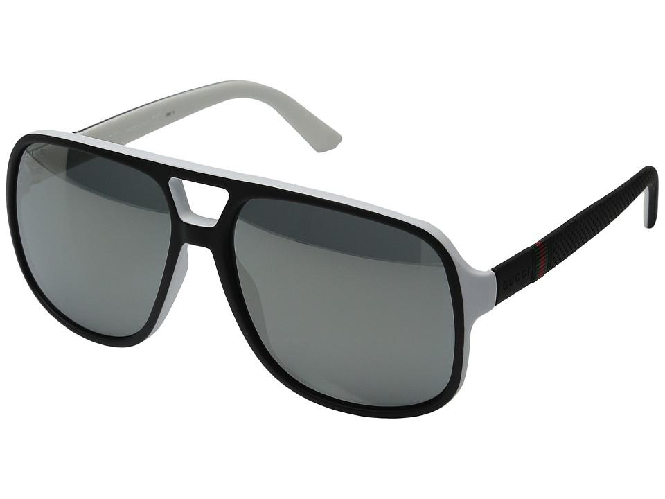 Gucci GG 1115S Black/White Fashion Sunglasses