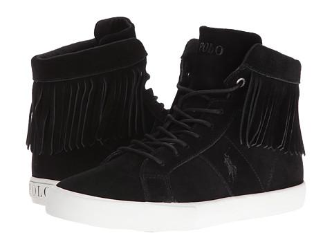 Polo Ralph Lauren Kids Winona Fringe Sneaker (Big Kid) - Black Suede