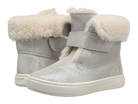 Polo Ralph Lauren Kids Sierra (Toddler/Little Kid) - Silver Metallic Suede