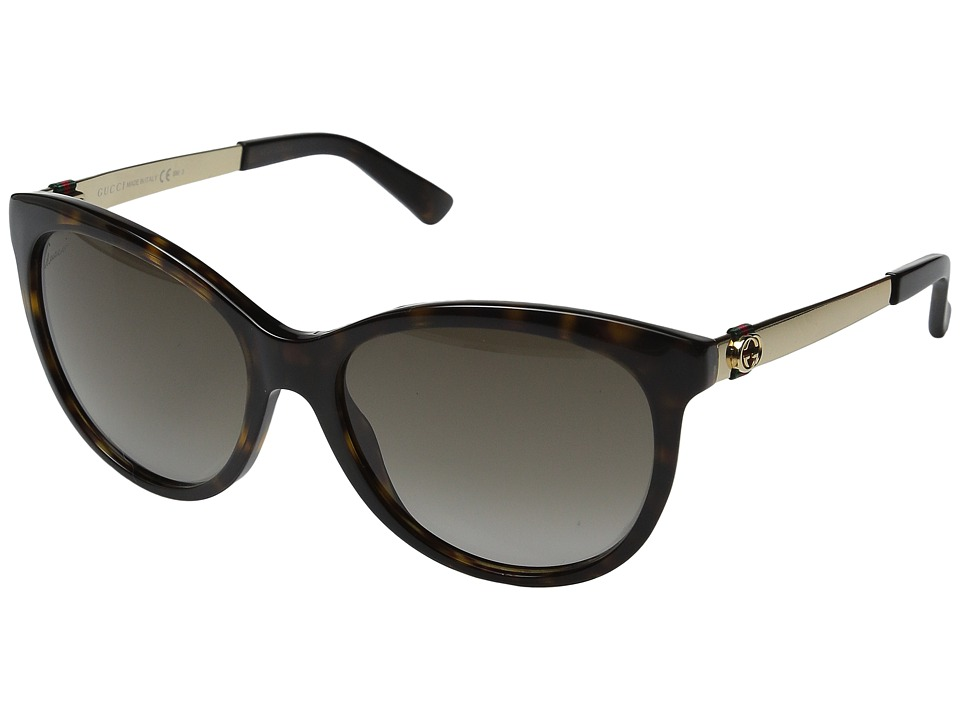 Gucci GG 3784S Dark Havana/Gold Fashion Sunglasses