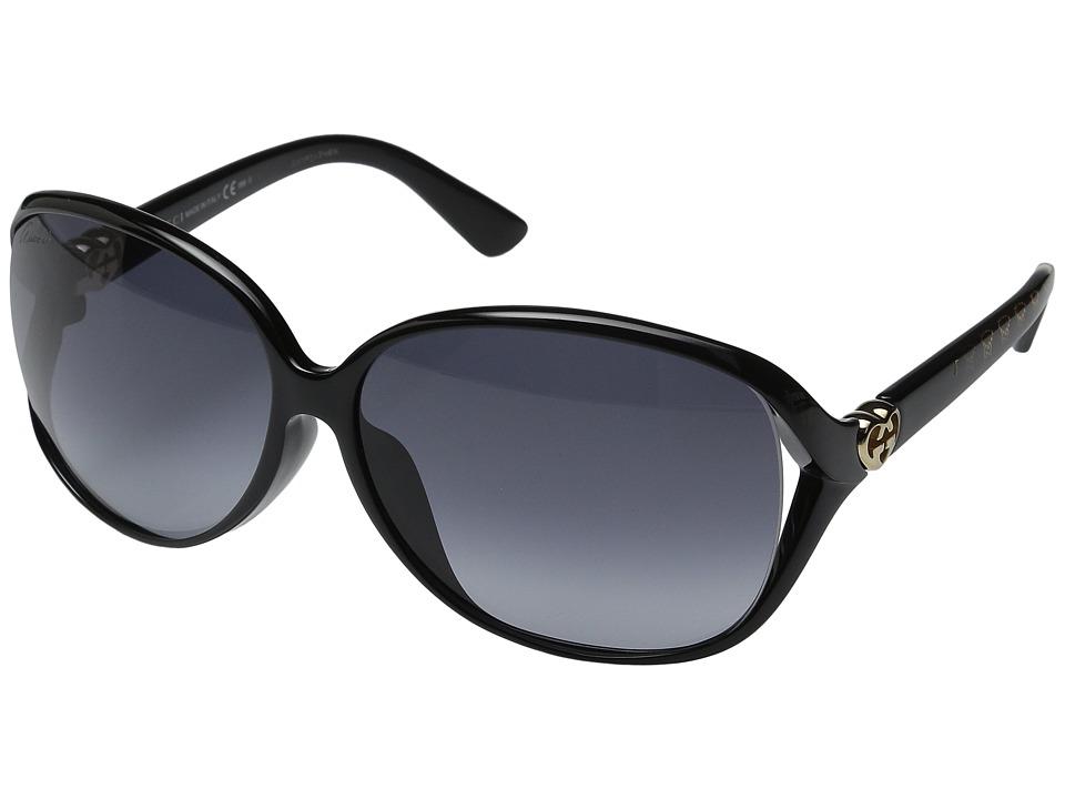 Gucci GG 3792FS Shiny Black Fashion Sunglasses