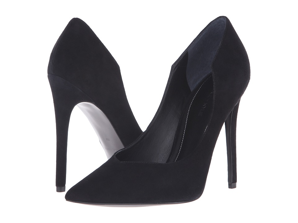 KENDALL KYLIE Abi 3 Black Suede High Heels