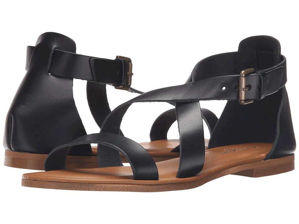 Massimo Matteo 3 Band Sandal Black Womens Sandals