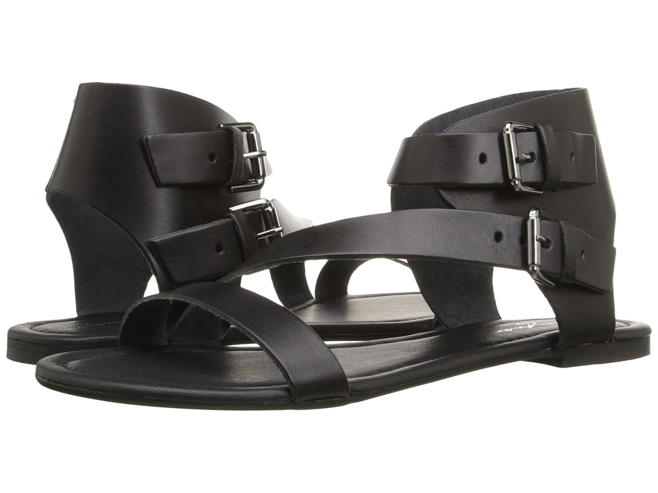 Massimo Matteo 2 Band Ankle Strap Black Womens Sandals