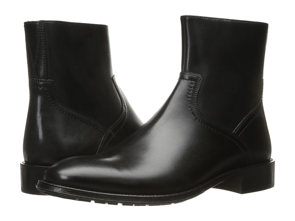 Florsheim Capital Plain Toe Zip Boot (Black Smooth) Men