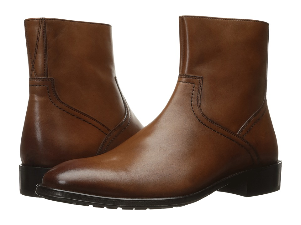 Florsheim Capital Plain Toe Zip Boot (Cognac Smooth) Men