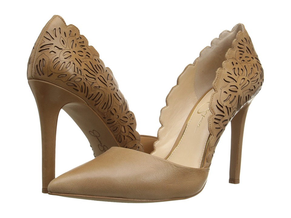Jessica Simpson Cassel Buff Ruby Tumbled High Heels