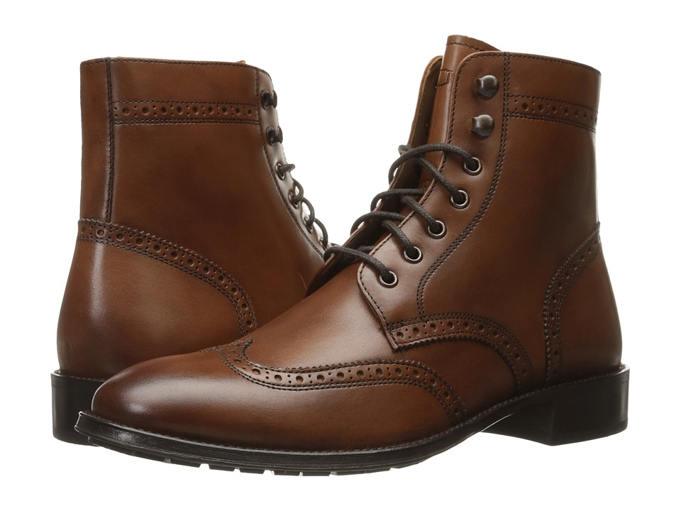 Florsheim Capital Wingtip Lace-Up Boot (Cognac Smooth) Men
