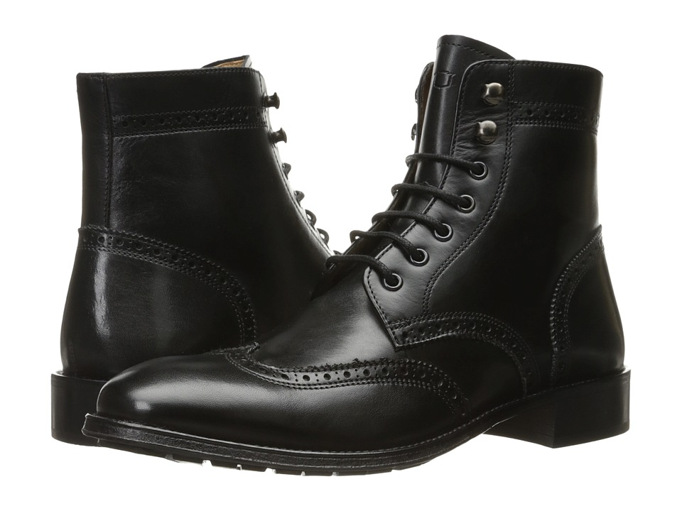 Florsheim Capital Wingtip Lace-Up Boot (Black Smooth) Men