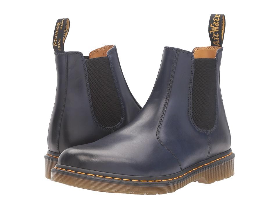 Dr. Martens 2976 Chelsea Boot (Navy Antique Temperley) Lace-up Boots