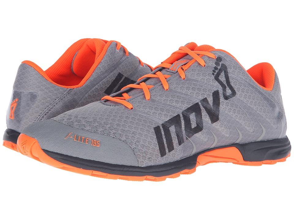 inov-8 - F-Lite 195 (Grey/Orange/Black) Mens Running Shoes
