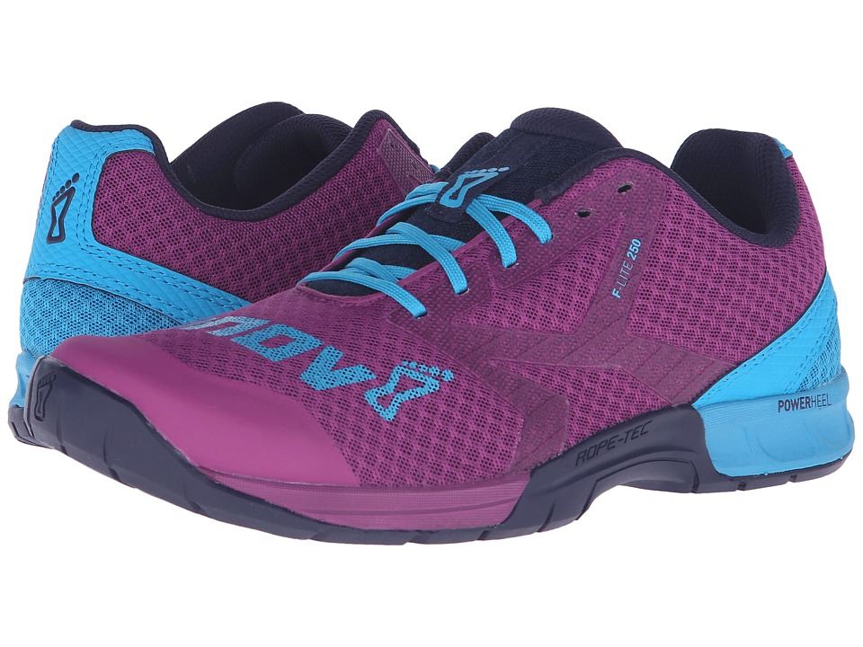 inov 8 F Lite 250 Purple/Blue/Navy Womens Running Shoes