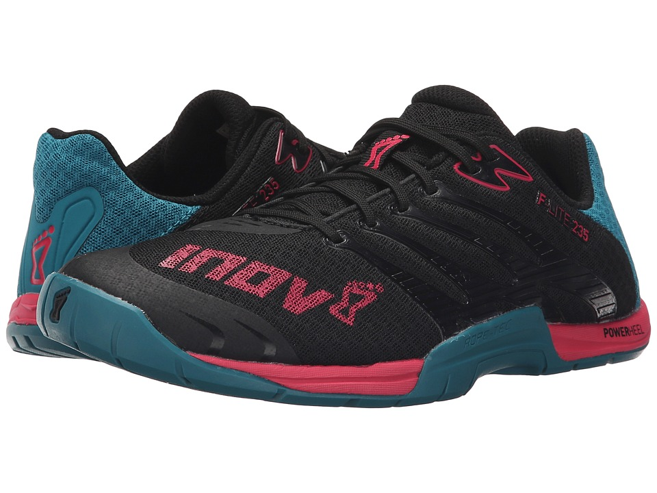inov 8 F Lite 235 Black/Teal/Berry Womens Running Shoes