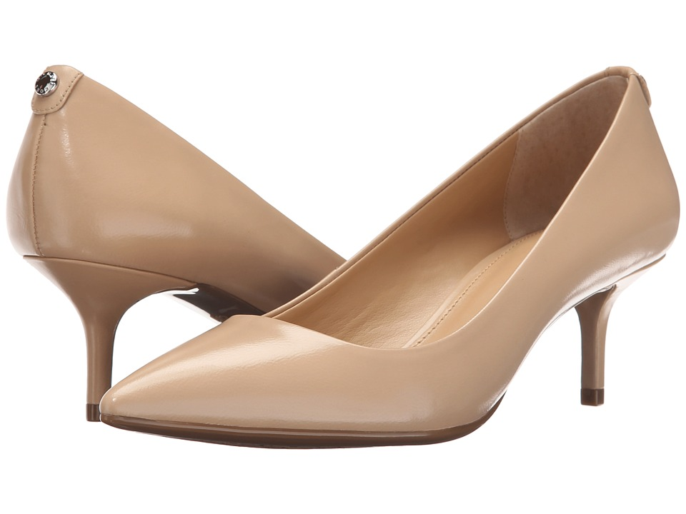 MICHAEL Michael Kors - MK Flex Kitten Pump (Nude Smooth Kid) High Heels