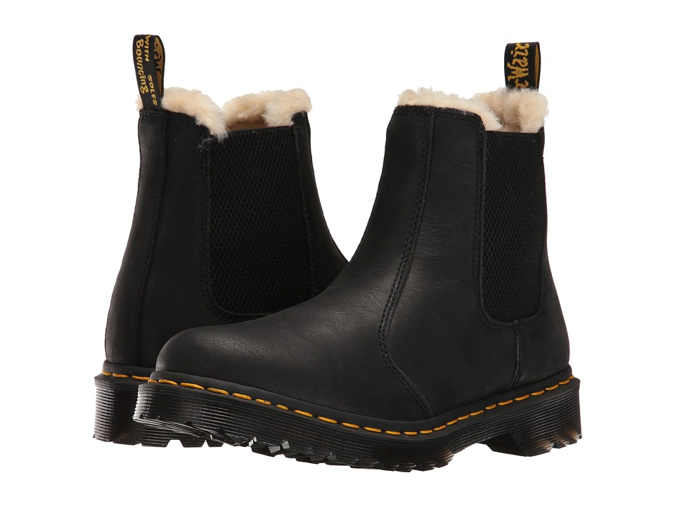 Dr. Martens Leonore (Black Burnished Wyoming) Women