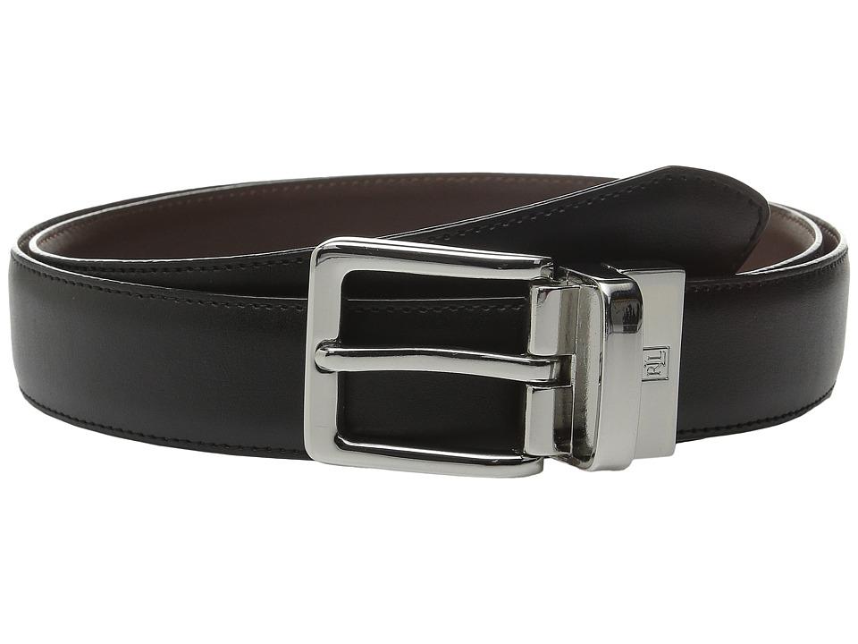 LAUREN Ralph Lauren - Reversible Dress Belt (Black/Brown) Mens Belts