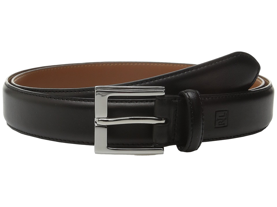 LAUREN Ralph Lauren - Step Down Buckle Belt (Black) Mens Belts
