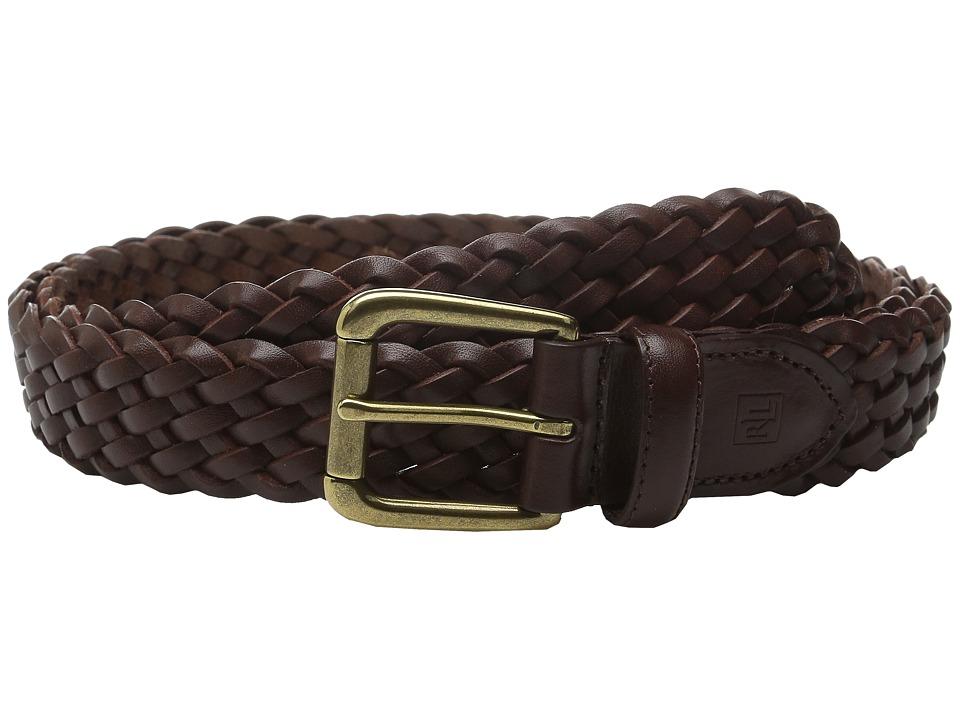 LAUREN Ralph Lauren - Casual Braid Belt (Brown) Mens Belts