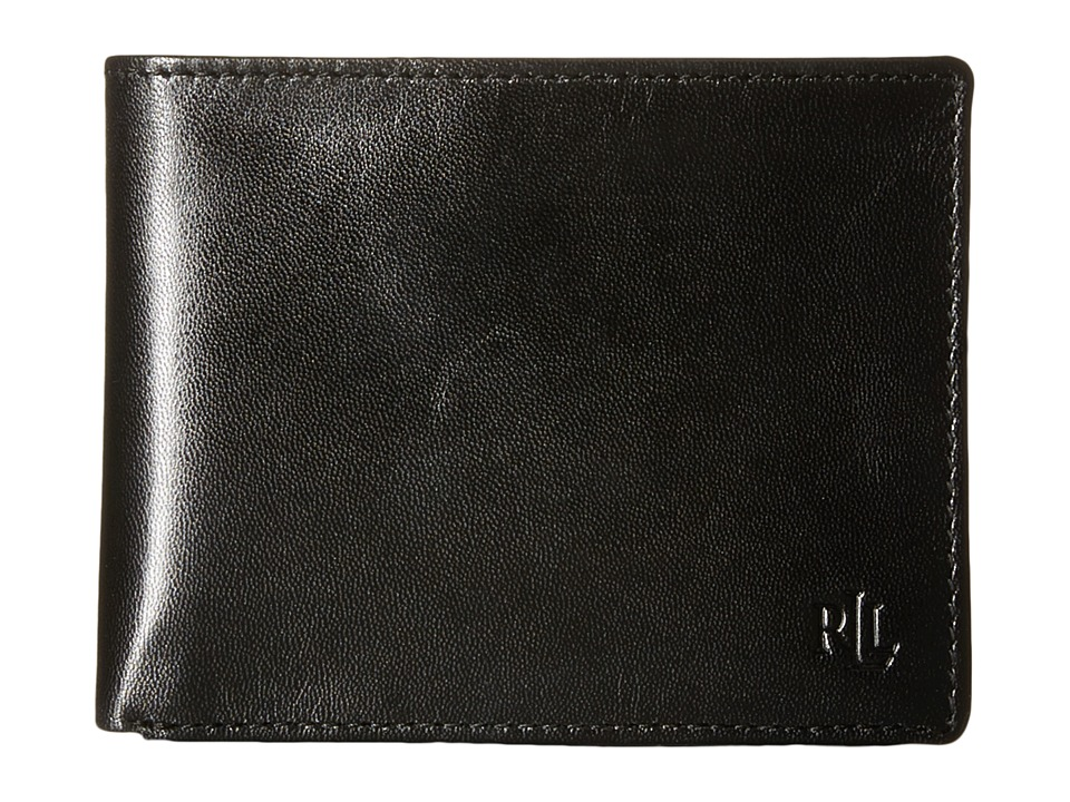 LAUREN Ralph Lauren - Burnished Passcase (Black) Wallet Handbags
