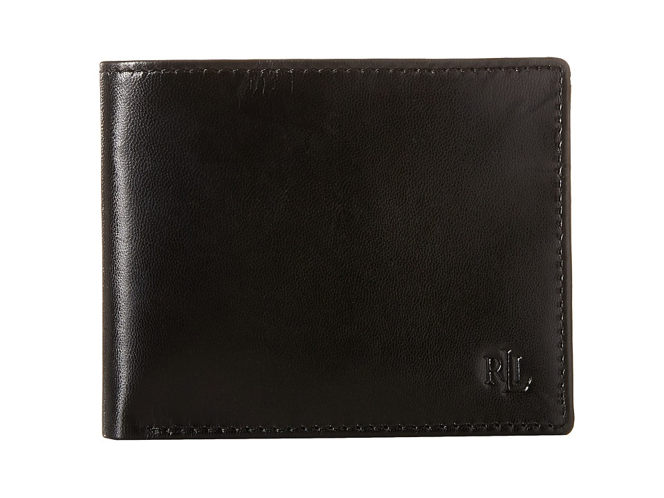 LAUREN Ralph Lauren - Burnished Billfold (Black) Wallet Handbags