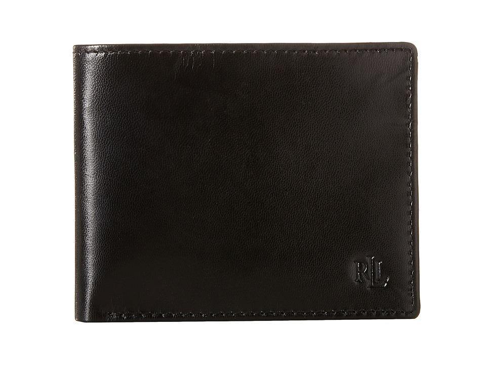 LAUREN Ralph Lauren - Burnished Billfold (Black) Wallet Handbags