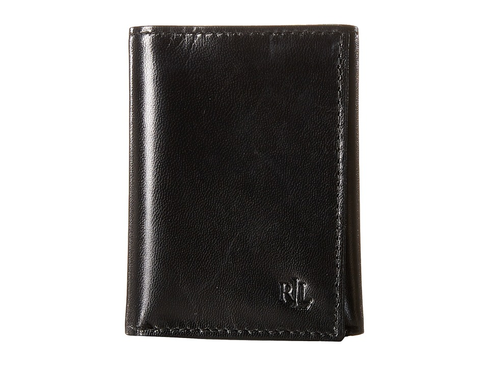 LAUREN Ralph Lauren - Burnished Trifold (Black) Wallet Handbags