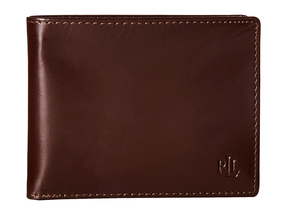 LAUREN Ralph Lauren - Burnished Passcase (Brown) Wallet Handbags