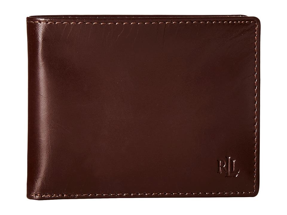 LAUREN Ralph Lauren - Burnished Passcase (Brown) Wallet Handbags