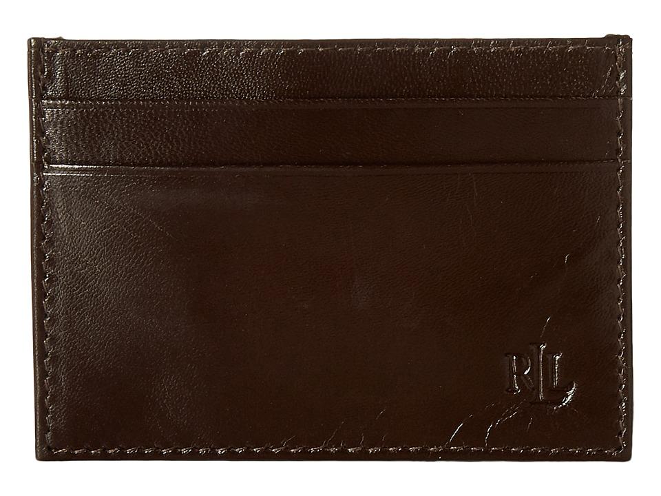 LAUREN Ralph Lauren - Burnished Card Case (Brown) Credit card Wallet