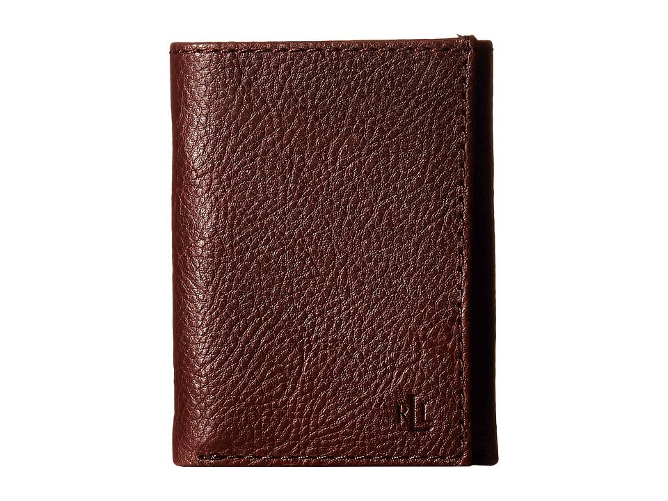 LAUREN Ralph Lauren - Oil Milled Trifold (Brown) Wallet Handbags