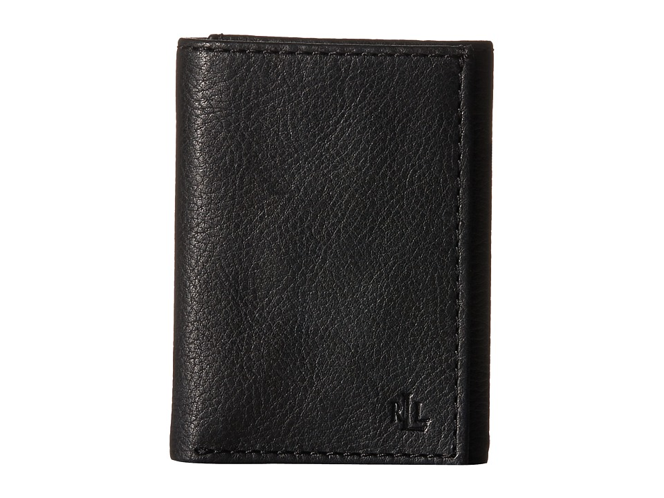 LAUREN Ralph Lauren - Oil Milled Trifold (Black) Wallet Handbags