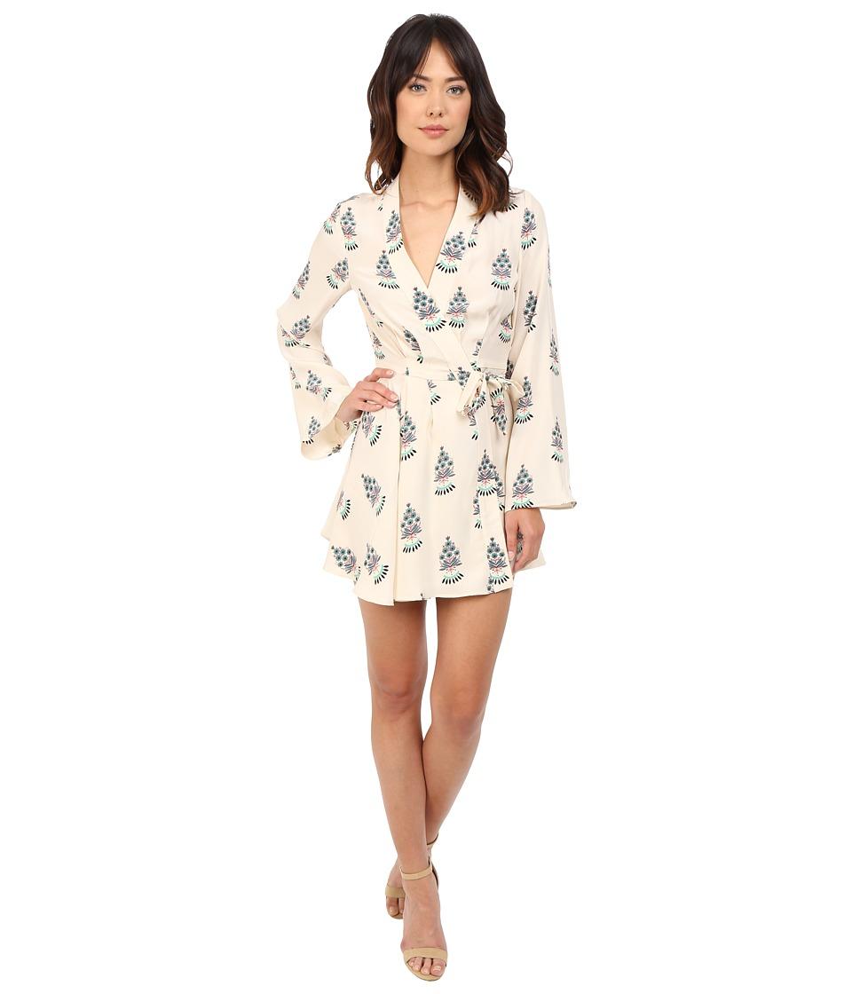 Stone Cold Fox Hamlet Dress Silk Satin Fleur Print Womens Dress