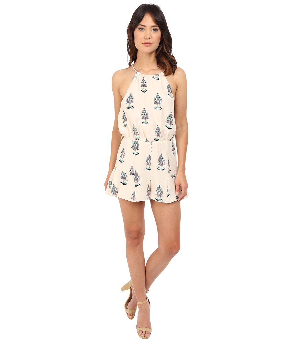 Stone Cold Fox Romeo Jumper Ivory Fleur Print Womens Jumpsuit Rompers One Piece