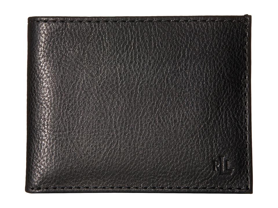 LAUREN Ralph Lauren - Oil Milled Passcase (Black) Wallet