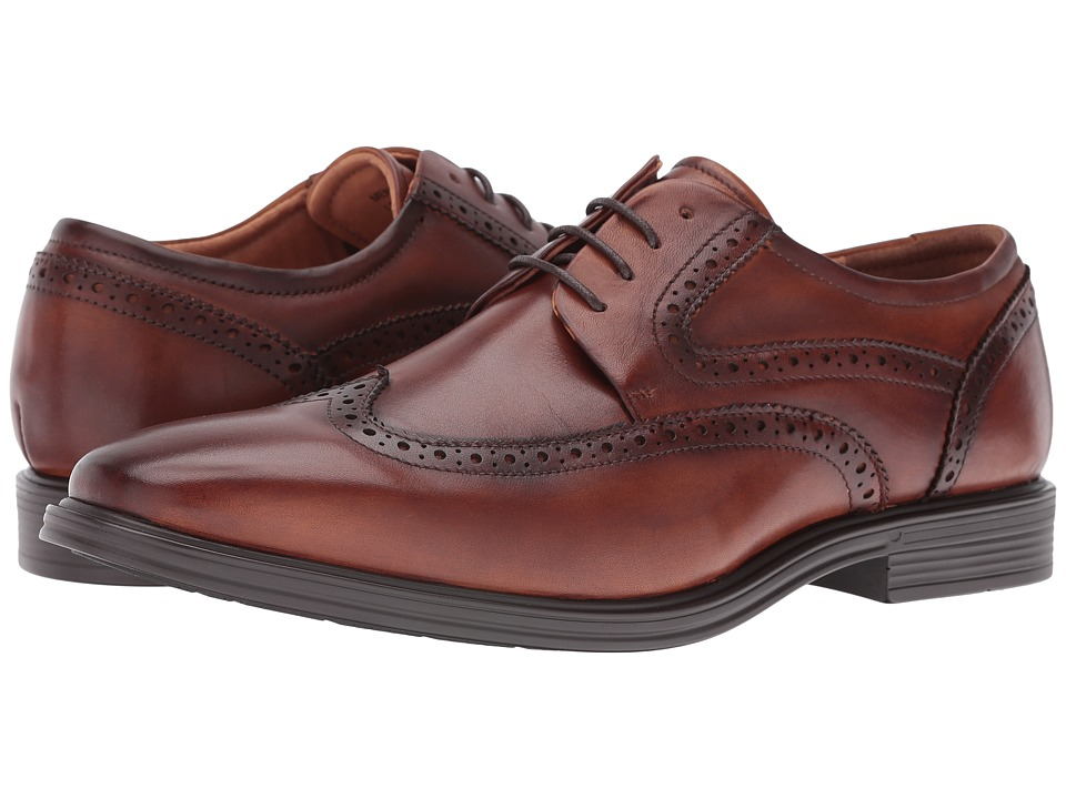 Florsheim Heights Wingtip Oxford (Cognac Smooth) Men