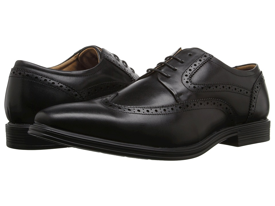 Florsheim Heights Wingtip Oxford (Black Smooth) Men