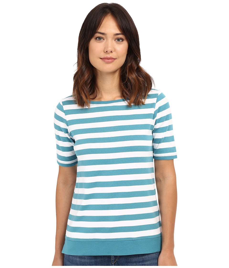 Pendleton - Sunshine Stripe Rib Tee (Larkspur/White) Women