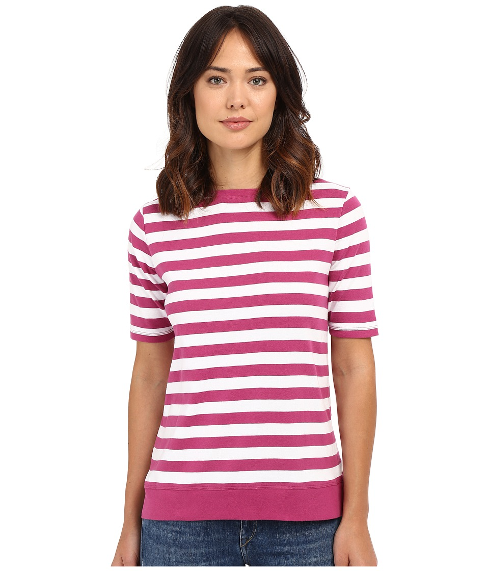 Pendleton - Sunshine Stripe Rib Tee (Magenta/White) Women