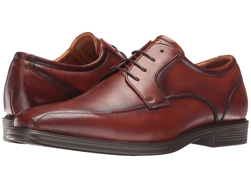 Florsheim Heights Bike Toe Oxford (Cognac Smooth) Men