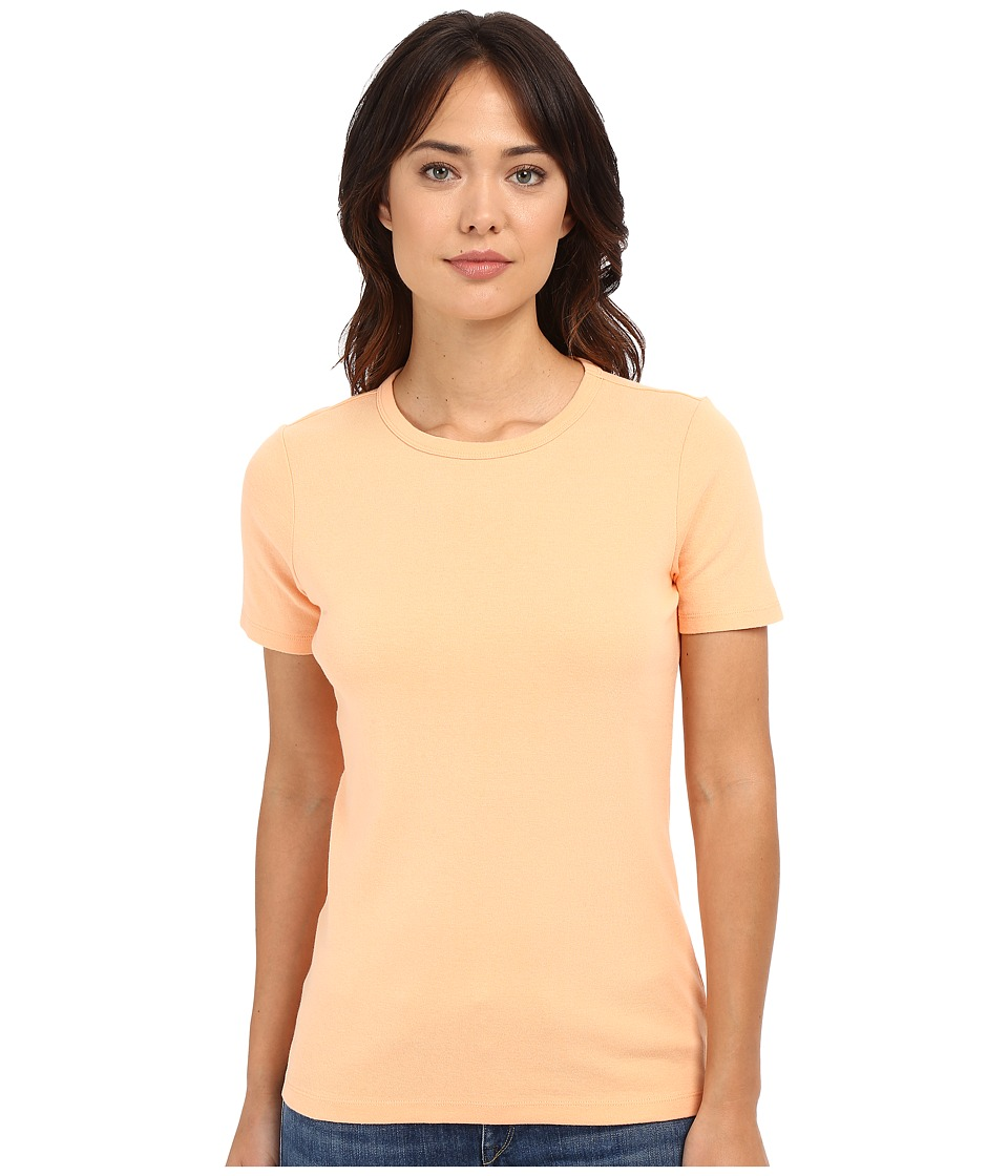Pendleton - Short Sleeve Rib Tee (Peach) Women