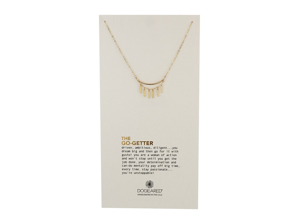 Dogeared The Mentor Double Ball Chain Necklace Gold Dipped Necklace