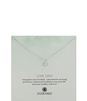 Dogeared - Love Gem Chalcedony Bezel Necklace