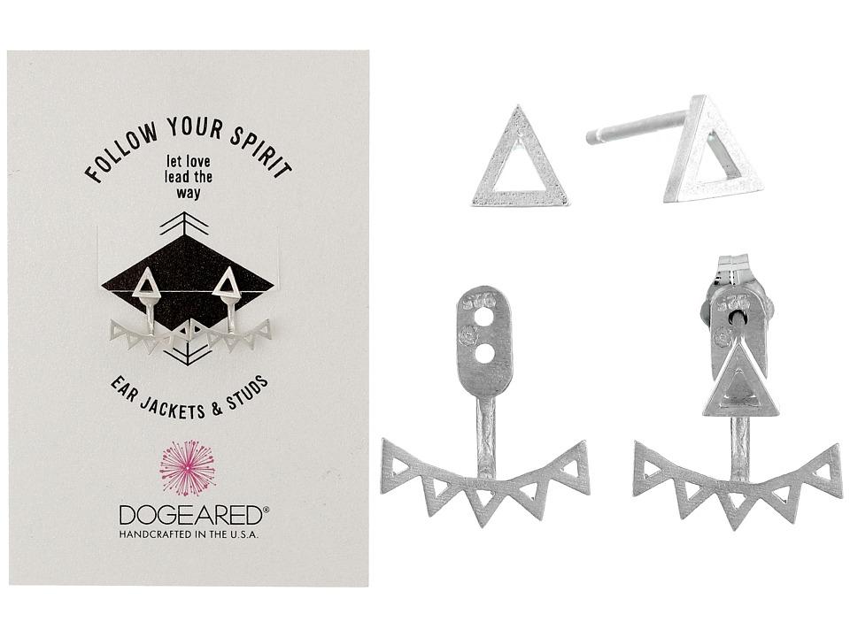 Dogeared Follow Your Spirit Multi Triangle Ear Jacket Earrings Sterling Silver Earring