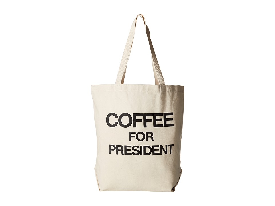 Dogeared - Coffee for President Tote (Black/Canvas) Tote Handbags