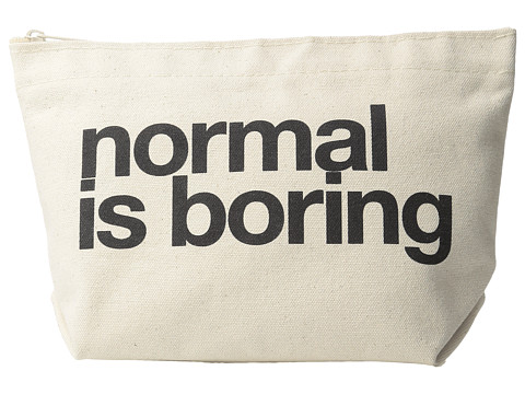 Dogeared Normal Is Boring Lil Zip - Black/Canvas
